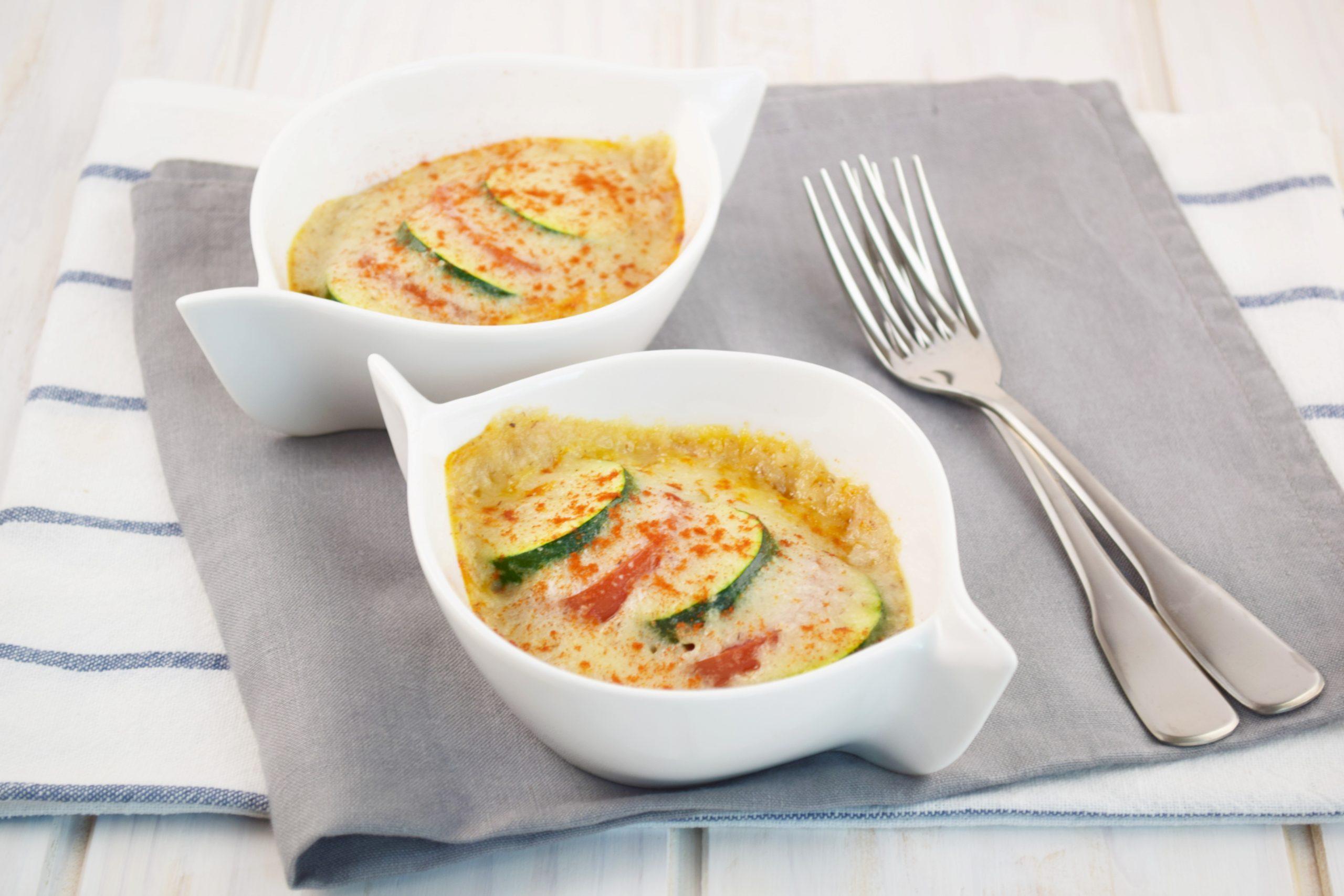 もち麦で簡単ホワイトソースの夏野菜グラタン
