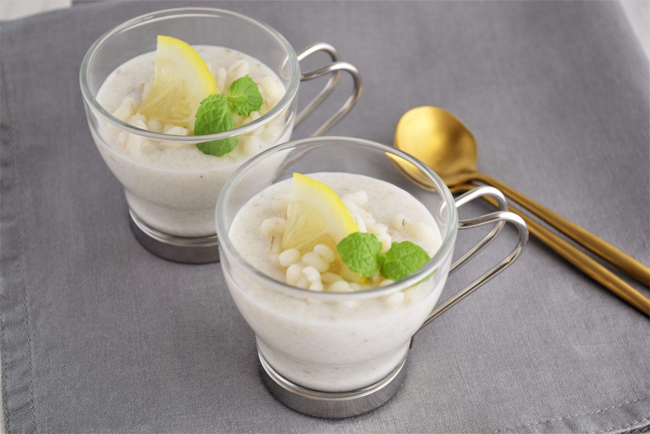 もち麦のココナッツミルクプリン