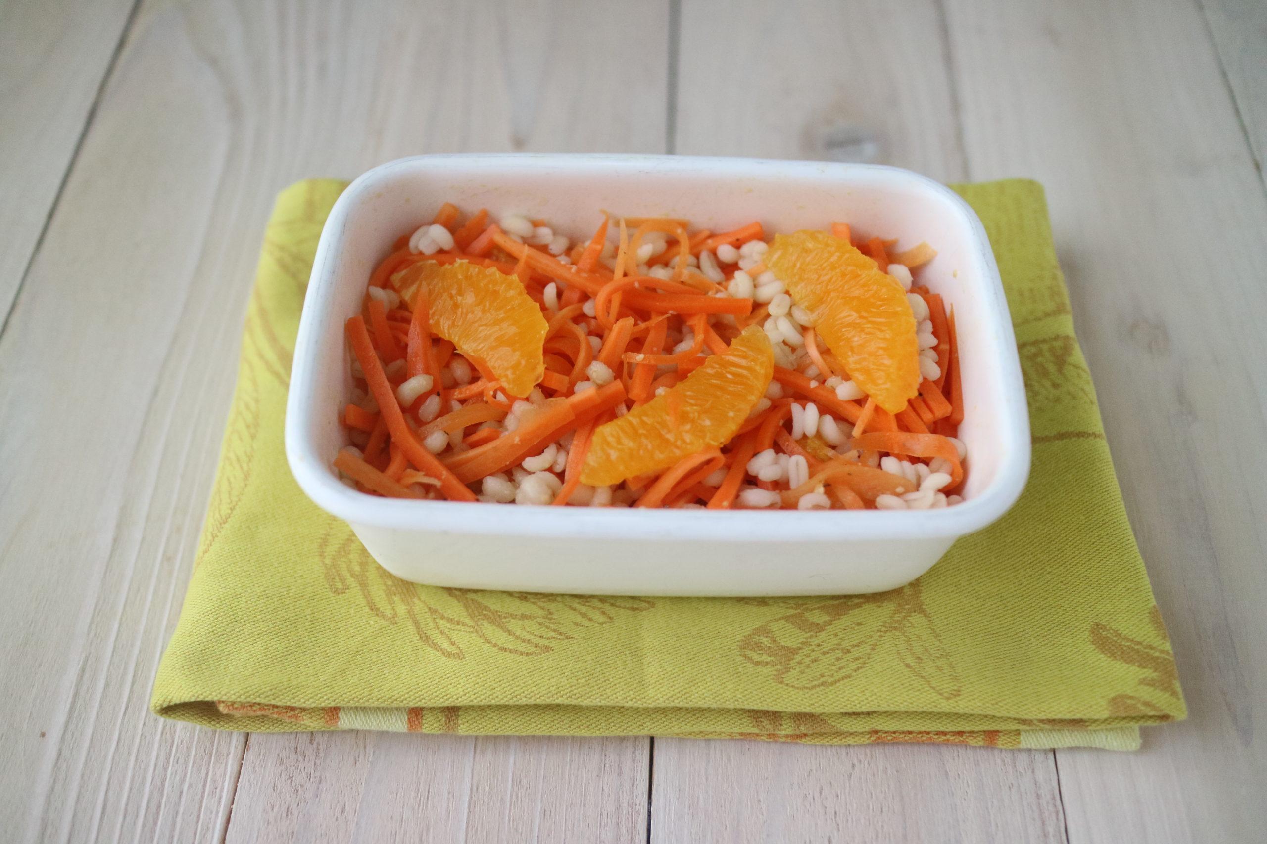 もち麦とオレンジのキャロットラぺ
