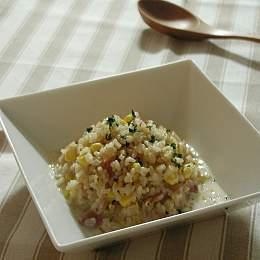 発芽玄米のコーンミルクリゾット