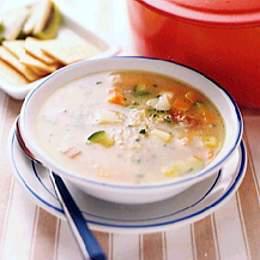 じゃがいもと大麦のスープ