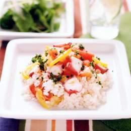 タコとトマトと純麦のサラダ