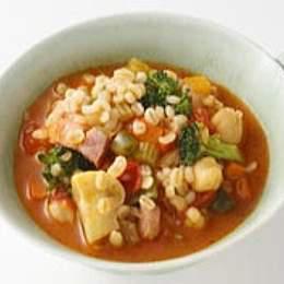 丸麦で作る食べるスープ