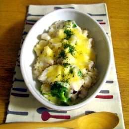 雑穀でタラとブロッコリーの豆乳ドリア