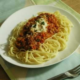 雑穀のトマトパスタ