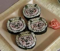 五穀ごはんの節分鬼の巻き寿司