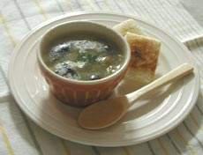 大麦ときのこのとろりんスープ