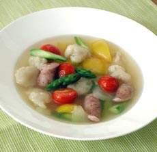 彩り野菜のすいとんスープ
