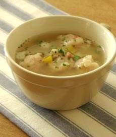 ウインナーすいとんの野菜スープ