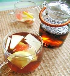麦茶のフルーツティー
