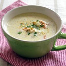 カリフラワーときびのクリームスープ