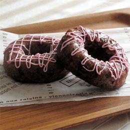 黒米と黒糖のドーナツ