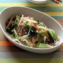 アマランサスと小松菜のエスニックサラダ