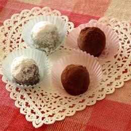雑穀パフ入り簡単チョコレートトリュフ