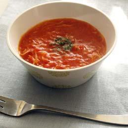 そうめん入りシンプルトマトスープ
