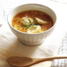 トマトと卵のスープすいとん
