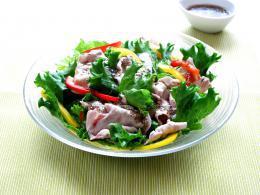 チアシードぽん酢の豚しゃぶサラダ