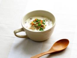 バーリーマックスとマッシュルームのクリームスープ